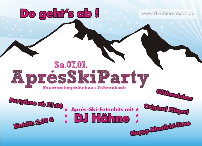 1. Aprés-Ski-Party bei der Feuerwehr Fahrenbach