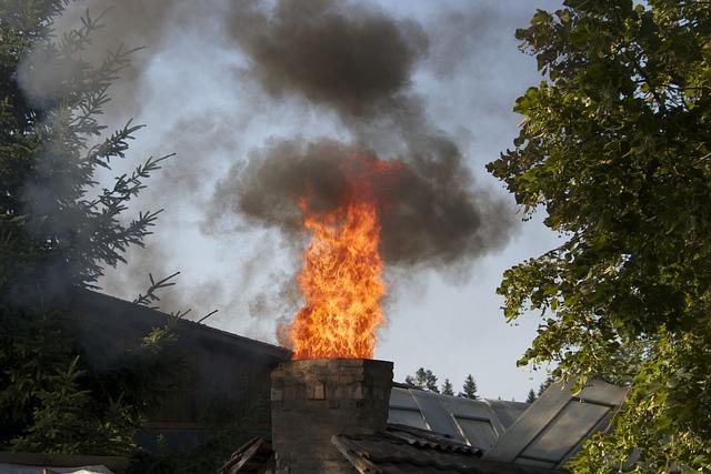 Hinweise zu Schornsteinbränden